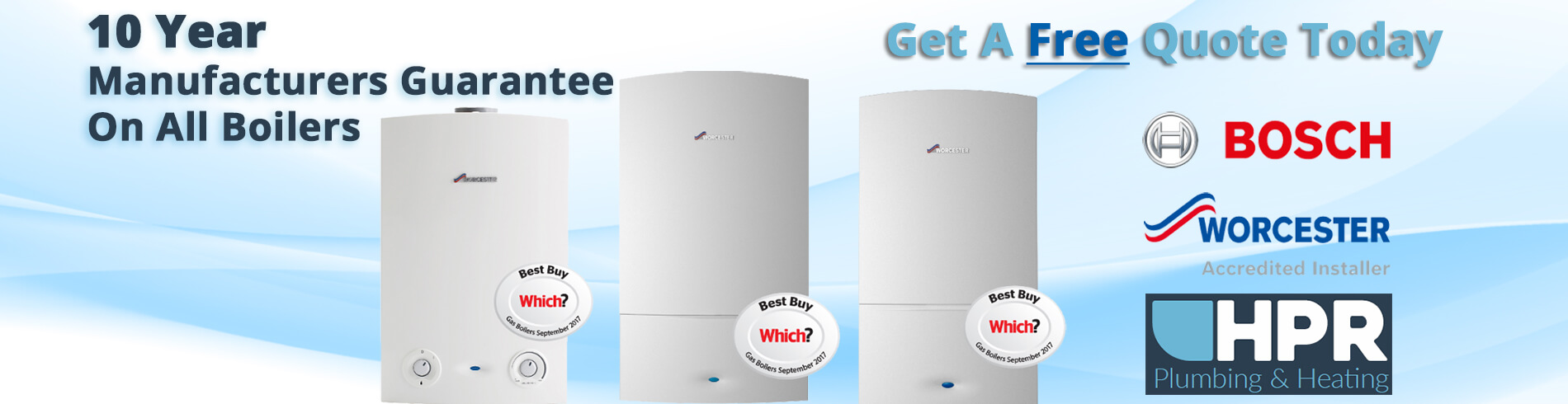 HP services boiler offer slide